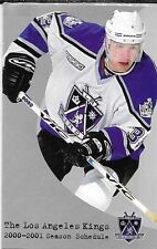 2000-01 NHL HOCKEY SCHEDULE - LOS ANGELES KINGS #3 ZIGGY PALFFY