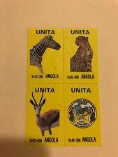UNITA Angola block of 4 Mint stamps - MNH
