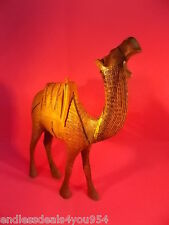LARGE CAMEL- VINTAGE- WOOD-HAND CARVED- MADE IN ISRAEL-1950's-MID CENTURY