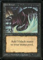 Dark Ritual BETA Magic the Gathering 1993 MTG Magic
