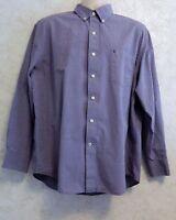 IZOD Men's Dress Shirt Purple Long Sleeve Size XL Extra Large Button Down