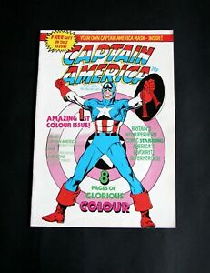 Captain America No 37 NOV 4, 1981. 1st colour edition with free gift. Nr. Mint.