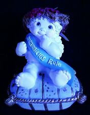 "Year 2000 Dreamsicles Cherub Figurine ""Dreamsicles Rule"" (Staff Missing)"
