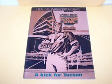 1992 WASHINGTON STATE v UTAH COPPER BOWL PROGRAM COLLEGE FOOTBALL COUGARS UTES