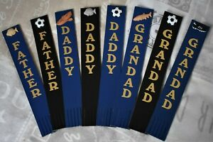 Felt Backed Leather Bookmark for Daddy, Father, Grandad Fishing / Football Theme