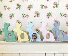 Personalised Free Standing Easter Bunny Rabbit Creme Egg Holder Polka Dot Gift
