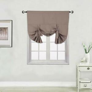 1PC 3WAY HANGING TIE UP WINDOW CURTAIN PANEL/VALANCE BLACKOUT THERMAL SHADE