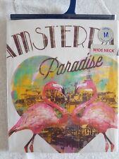 Amsterdam Paradise Ladies Size M T-Shirt Wide Neck Flamengo