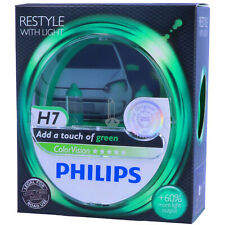 H7 PHILIPS ColorVision GRÜN - Styling Scheinwerfer Lampe - DUO-Pack-Box NEU