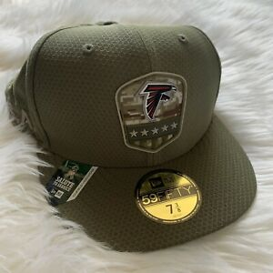 Atlanta Falcons NFL New Era Salute to Service Fitted Olive Size 7 3/8 58.7cm NEW