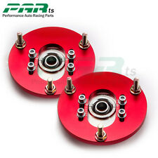 Front Coilover Camber Plate For BMW 3 Series E46 98-05 Top Upper Mount Red deal
