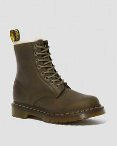 Dr. Martens 1460 Serena Olive Faux Fur Lined Ankle Boots UK 3 / EU 36 RRP £159