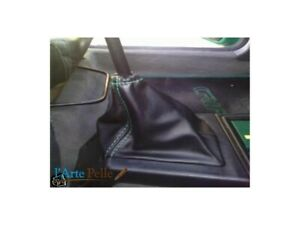 Peugeot 205 Leather Shift Boot Black Stitching Green