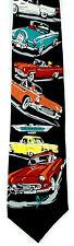 T Birds Men's Neck Tie Ralph Marlin Ford Thunderbird Cars Silk Black Neck Tie