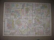 Antique 1924 Perrysburg Sylvania Springfield Township Lucas County Ohio Map Nr