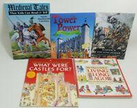 Lot of 5 Usborne + Books Medeival Tales Castles London Homeschool C508