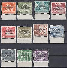 Schweiz Internationale Ämter BIT Mi.Nr. 83-93 postfrisch Mi.Wert 140€ (6631)