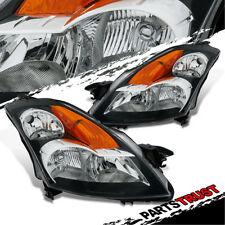 For 2007 2008 2009 Nissan Altima Factory Style Black Replacement Headlights Pair