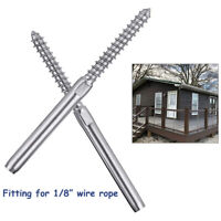 "Stainless Steel T316 Lag Screw Right&Left Hand Swage for 1/8"" Cable Sale !"