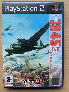1945 1 + 2 PS2 Game Original World War II WW2 Arcade Classics