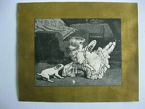 GREAT Victorian Trade Cards 1800s Black & White Graphic Christmas Number GOLD 8A