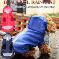 Wasserdichte Hundejacke Reflektierende PU Welpen Haustier Regenmantel mit Kapuze