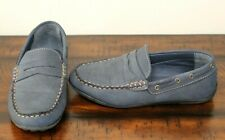 Steve Madden NAVY LOAFERS sz 4 Boys Shoes Driving Moccasin