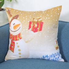 Merry Christmas Pillowcase Linen Cotton Sofa Cushion Cover Case Room Home Decor