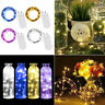 10/20/30LED Button Battery Operated Micro LED Copper Wire String Fairy Lights Du