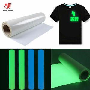 Luminous Heat Transfer Press Vinyl Iron On Glow in the Dark T-Shirt HTV Film Art