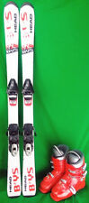 Head BYS Youth 137 cm Skis with 23.5 or 24.5 Ski Boots - Red - USED