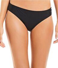 Swimsuit Bikini Bottom 18 18W 1X Black NEW Solid Classic Fit Island Escape 4602