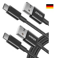2 Stk. Anker USB C Kabel Typ C Kabel 1,8 m Nylon Type C Ladekabel Schwarz