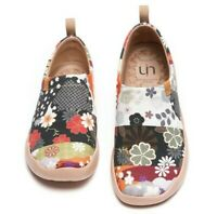 UIN Women Shoes Hana Artistic Canvas Casual Travel Slip-On JP Series