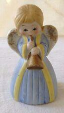 """4"""" Vintage J.S.N.Y. Angel Bell Taiwan Porcelain Figurine"""