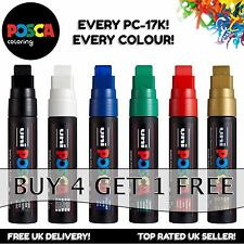 Uni Posca PC-17K Paint Markers Large Chisel Tip - 10 colours - Buy 4, Pay for 3