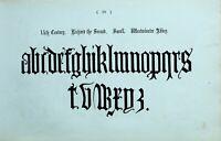 1865 Ornamental Alphabet Aufdruck ~ 14th Century Richard 11 Westminster Abbey