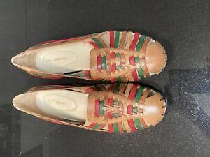 Soft spots Brown Red /green Huarache  Sandals Women's Size 11w