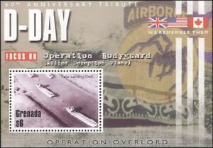 Grenada 2004 WW II/D Day Anniv/Boats/Landing Craft/Military/War 1v m/s (n15405)