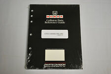 OEM 1992-95 Honda Civic Sedan Factory Collision Parts Reference Guide Ferio EH9