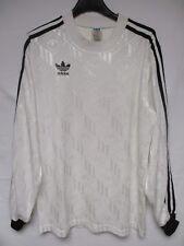 Maillot ADIDAS vintage blanc couleur SCO trefoil shirt manches longues trikot S