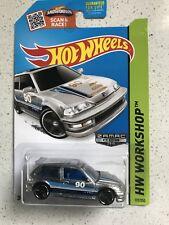 Hot Wheels 1990 Honda Civic EF Zamac Walmart Exclusive Silver Color