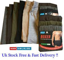 6 Pairs Men's Plain Boxer Shorts Underwear, Classic Rich Cotton  Boxers S M L XL
