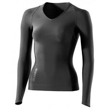 Skins RY400 Women's Long-Sleeve Compression Top Graphite XS