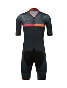 Santini Men's Cycling River Road Suit in Black / Red