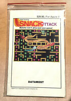 Apple II - Snack Attack by Datamost 1981 w/Manual & Original Packaging