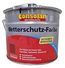 9,90€/L CONSOLAN PROFI Wetterschutz Farbe schwedenrot seidenglänzend 10 Liter