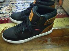 Levi's Mens Jeffrey Hi 501 Black High Top Sneakers Shoes 8.5 Men