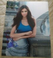 NINA DOBREV SIGNED 8X10 PHOTO VAMPIRE DIARIES W/COA+PROOF RARE WOW