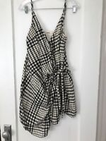 Women's Anthropologie Gingham Tie Front Mini Dress. Size 12.